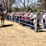 Denton Horse Country Tour. Road Runners get ready for a mounted shooting demonstration.