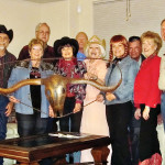 Cowboy up! It was a Longhorn State Wine Tastin' shindig! Pete Toppan, Mary Bryant, Roy Bryant, Nancy Toppan, Al Wright, Viv Wright, Terry Gilberti, Michael Gilberti, Catherine Bass and Ken Bass.