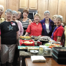 Left to right: Darla Holland, Glenda Brown, Dorothy Hogan, Judy Loomis, Joyce Brein, Katherine Vess, Geraldine Gawle, Sally Hampton, Ann Garbarino, Carol Solow and Fern Hogan.