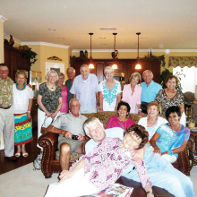 The International Group members at Eileen Whittaker's home.