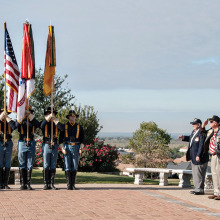 1st CAV and Robson Ranch Veterans Honor Guards at 2013 Ceremony.