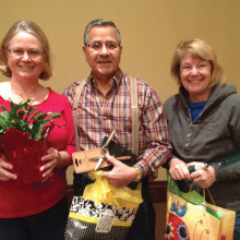 The door prize winners: Frank Frascolla, Sheri Twiggs and Mary Lou Kuxhause. Photo by Lori Slocum.