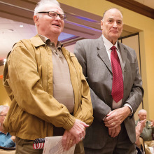 World War II Veterans Ed Lamport and Austin Cleveland. Picture by Randy Hatcher.