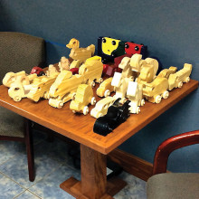 These toys were given to the Denton City County Center.