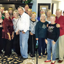 Left to right: Joe and Linda Bono, Cheryl and Ray Lubojacky, Rosie LeVrier, Janelle Roth, Linda Strader, Chuck Strader, Tom Roth, Buddy and Trish Arnold, Mary Arthur, Gary and Barbara Geiser, Nancy and Denny Anderson, Ken and Janice Brown, F.C. LeVrier. Not pictured: Lori Slocum and Ken Arthur