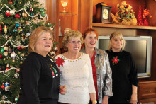 The Sassy Stampers at their Christmas party