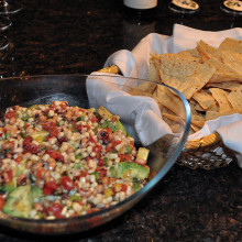 Southern Caviar and tortilla chips