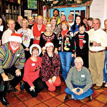 Tim Trawick, back row, joined members of the RR Pickleball Club in a holiday celebration at the Horny Toad Café.