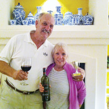 Mike and Susan Miloser brought this month's winning wine.