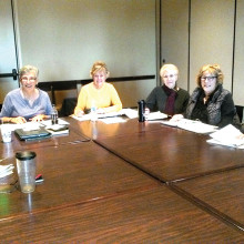 Members of the Facilities Committee, left to right: Sally Hampton, La Donna Womochel, Pat Knight, Shirley Martin, Linda Terry and Susan Wells. Committee member Don Hebert was absent.