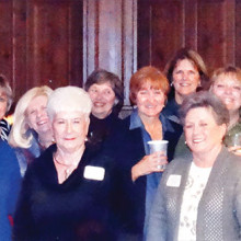 Gals, left to right: Mary Ellen Forbes, Donne Lepore, Janet Elizondo, Catherine Jenkins, Pat Bender, Marjorie Williams, Mary Sullivan, Melodye Rogers, Melinda Hall, Linda Grimes, Debbie Johnston, Jamey Siefert, Carol Finn and Barbara Geiser
