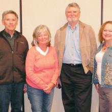 Don Skokan, treasurer; Linda Grandfield, secretary; Edward Barnett, vice president; and Dianne Ace, president