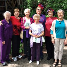 Left to right: Melba Beckham, Lynne Hendren, Val Bulls, Barbara Roberts, Marcia Wolf, Vicky Taylor and Aileen Oliver