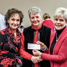 Left to right: Peggy Crandall, Linda Stuart and Ellen M. Painter