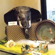 Animal pottery display