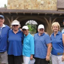Blue team, left to right: Ray Cromer, Judy Klenz, Royoko Stevelenson, Debbie Reed, Ruth Bowen and Gil Ortiz