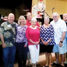 First place team, Sprigs; Sponsor Philip Leibham: Rich and Kathy Marsh, Dale and Darla Mahan, Sue and Don Hebert, Greg Pettus and Connie Bjella