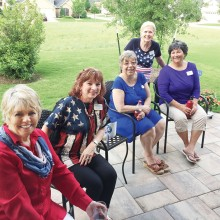 Cathy Jenkins, Sondra Hall, Denise Switzer, Pat Bender and Linda Venable