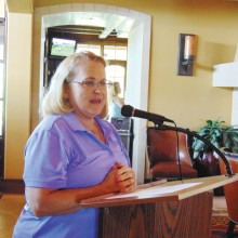 Virginia Wheeless, president of the Wildhorse Lady Niners