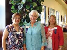 New members from left: Deb Nortunen, Doris Glenn and Erna Seale