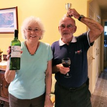 The winning wine was brought by John and Paula Saunders.