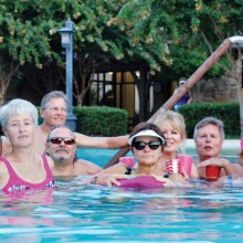 The Baby Boomers enjoying the outdoor pool