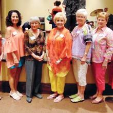 New members, left to right: Marilyn Gomez, Jackie Killingsworth, Billie Maxwell, Glenda Carr, Tanya Holt, Carol Kerr and Diane Khalar
