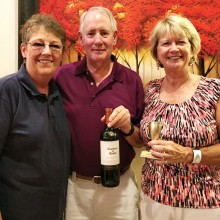 Cyndi Stampf, Pat and Donn Wilson brought the winning wines.