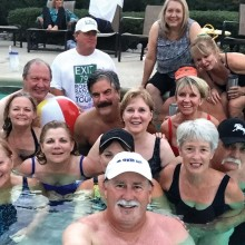 "The first Robson Ranch Baby Boomer pool ""selfie"""