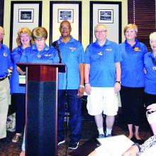 Award honorees: Bill Wright, Kathy Perry, Carol Rauhauser, Gerald Jones, Mike Weaver, Betsy Sheats and Genny Bunker