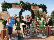 A toast to the Christmas season from Lois Reinhart, Susan Hebert and Vicki Baker