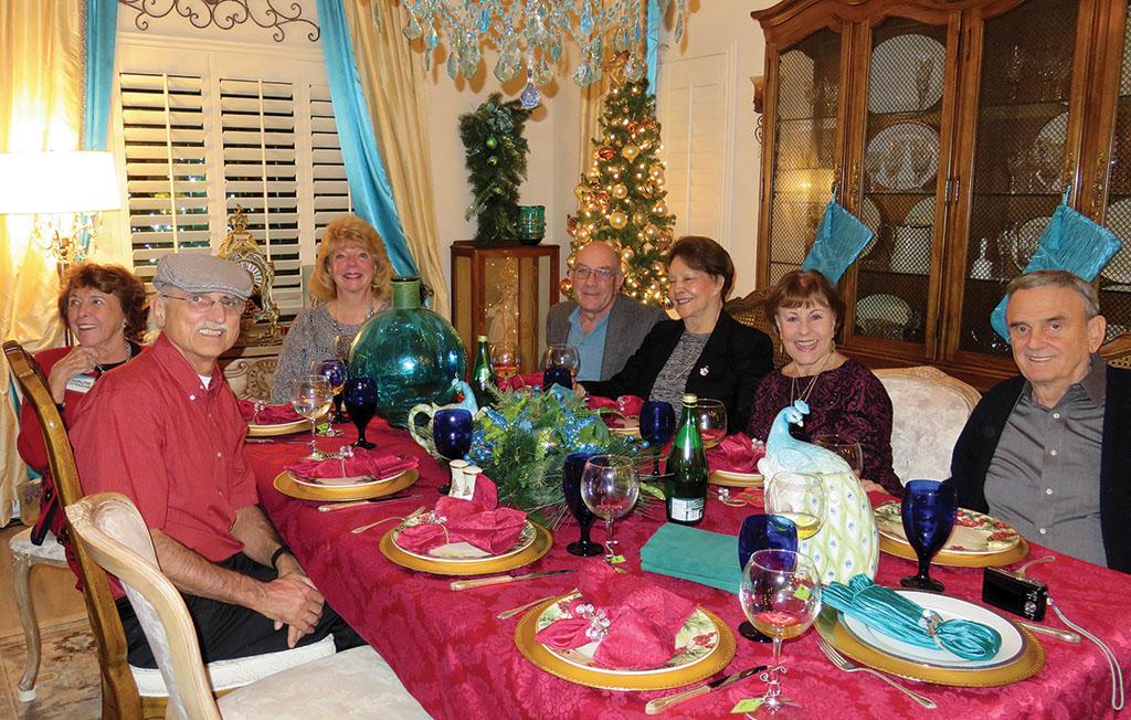 Left to right: Pete Toppan, Charlene Cottingham, Kathy Perry, Mike Aramanda, Millie Aramanda, Cherie Snowden and Charlie Snowden