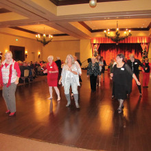 The Robson Ranch Singles Club's Christmas party