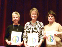 WGA officers for 2016: Linda Knightly, Diane Bent and Linda Watrak; not pictured, Donna Phillips