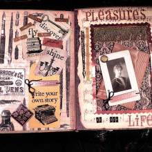 This is a page from a scrapbook made in the 1900s