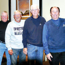 The 2016 Executive Board of the MGA, consisting from left to right of Joe Cooper, president; Glenn Headley, vice president; William Vess, treasurer; and John Claudy, secretary