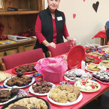 Pat Hamblin, President of After Schoolers, is pictured with Sweets for The Sweet at Borman Elemtary School.