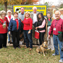 A few of the many volunteers at Borman Elementary including Cody the dog.