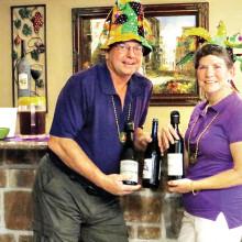 Vicki and Scott Baker treat the Wine Knots to Louisiana wines.