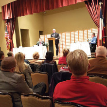 Robson Ranch residents attending the Candidate Forum