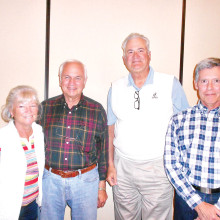 President Linda Grandfield; Secretary Klaus Fanterberg; Vice President Mike Welton; and Treasurer Don Skokan