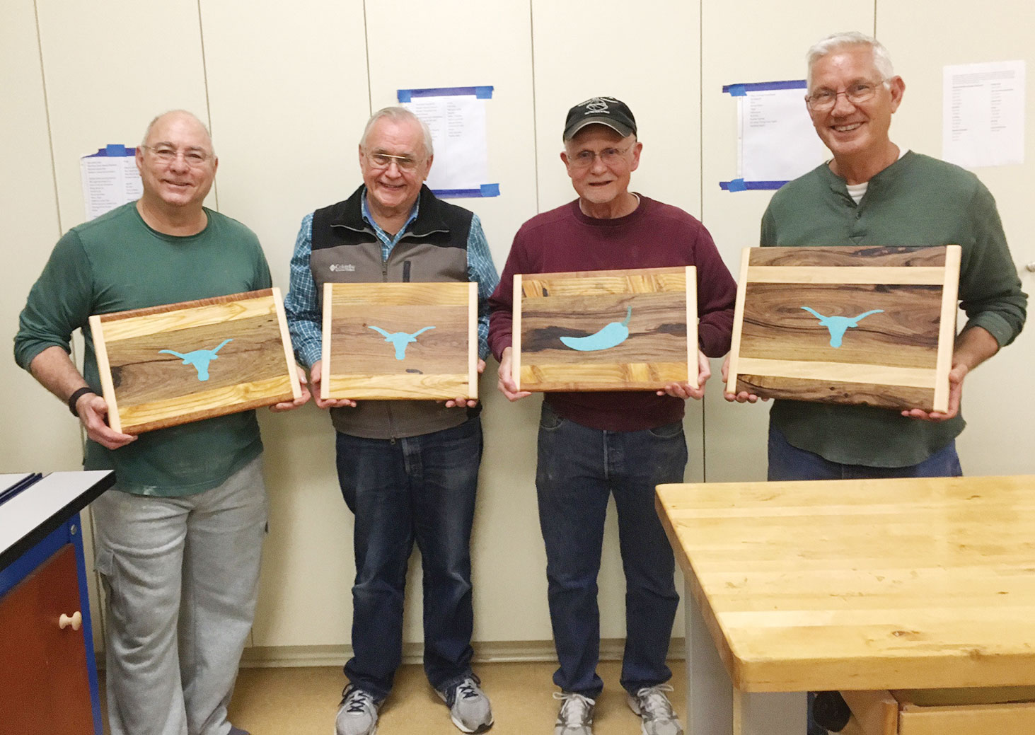 Inlay class members, left to right: Ken Arthur, Dick Remski, Bob Brannon and Larry Balich