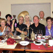 Left to right: Terry Gilberti, Mike Gilberti, Catherine Bass, Nancy Toppan, Roy Bryant, Vivian Wright, Ken Bass, Al Wright, Mary Bryant and Pete Toppan