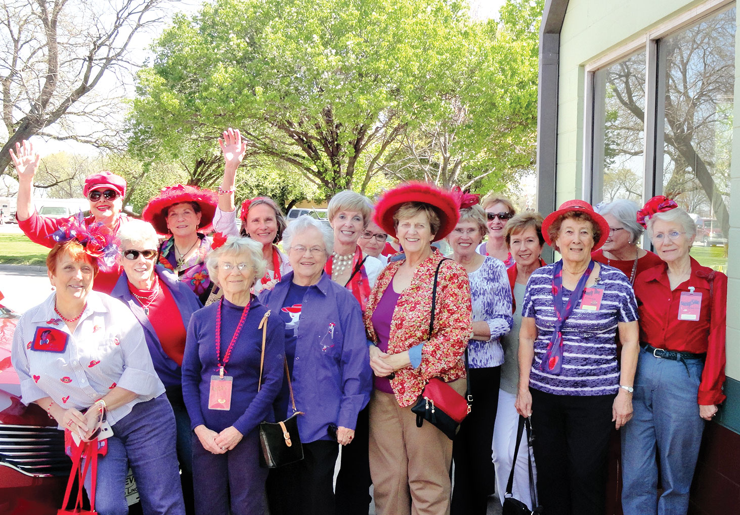 The Ladies with Hattitude recently visited downtown Denton.