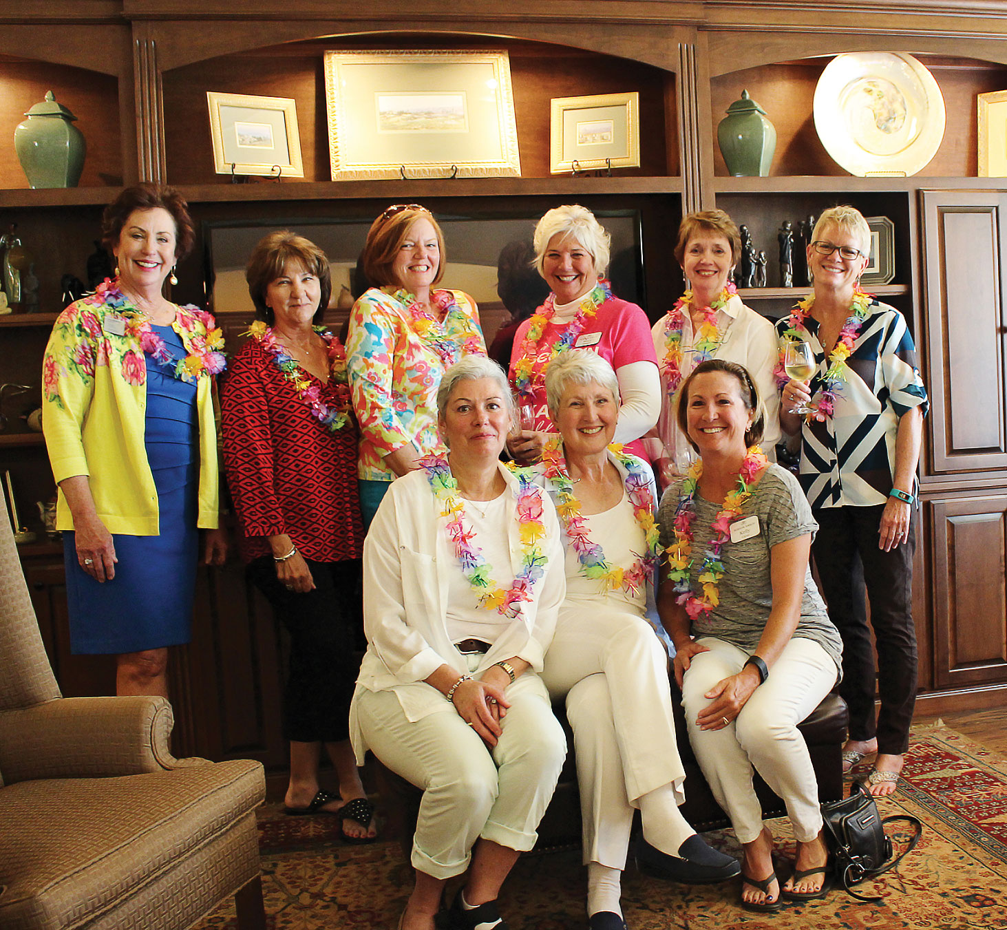 New members, back row: Ann Brehm, Judy McDuffie, Kay McKie, Mary Fabian, Jan Humphrey and Patty Stimson; front row: Connie Chapman, Lavelle Carlson and Kelly Close