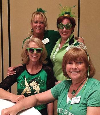 Left to right, top row: Teresa Blackburn-Korn and Tina Hoffenberg; front row: Carolyn Thomas and Jane Thompson