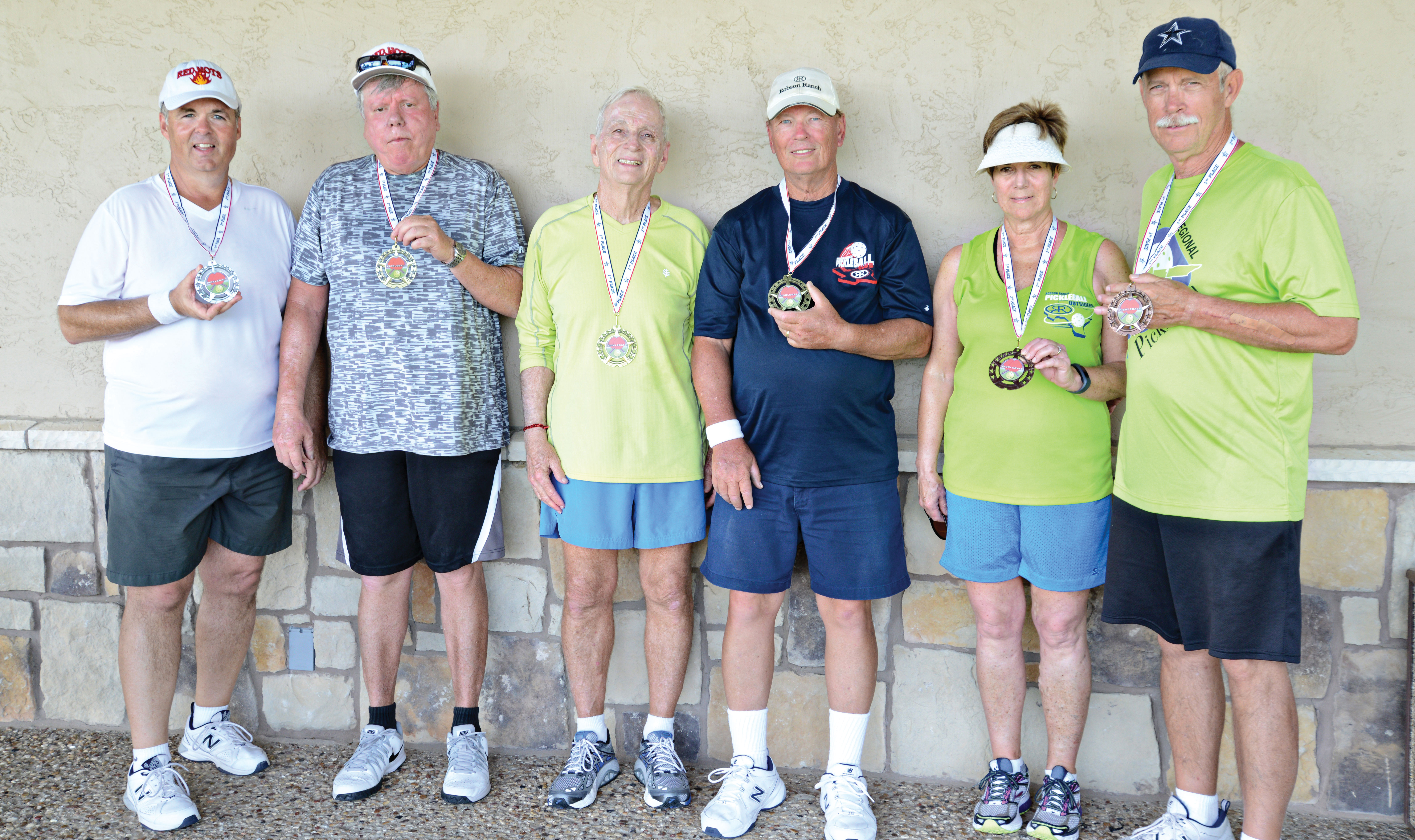 Division A winners, left to right: Jim Lafferty, Jim Richardson, Jerry Killingsworth, Mike Conley, Cassie Richardson and Patrick Claytor
