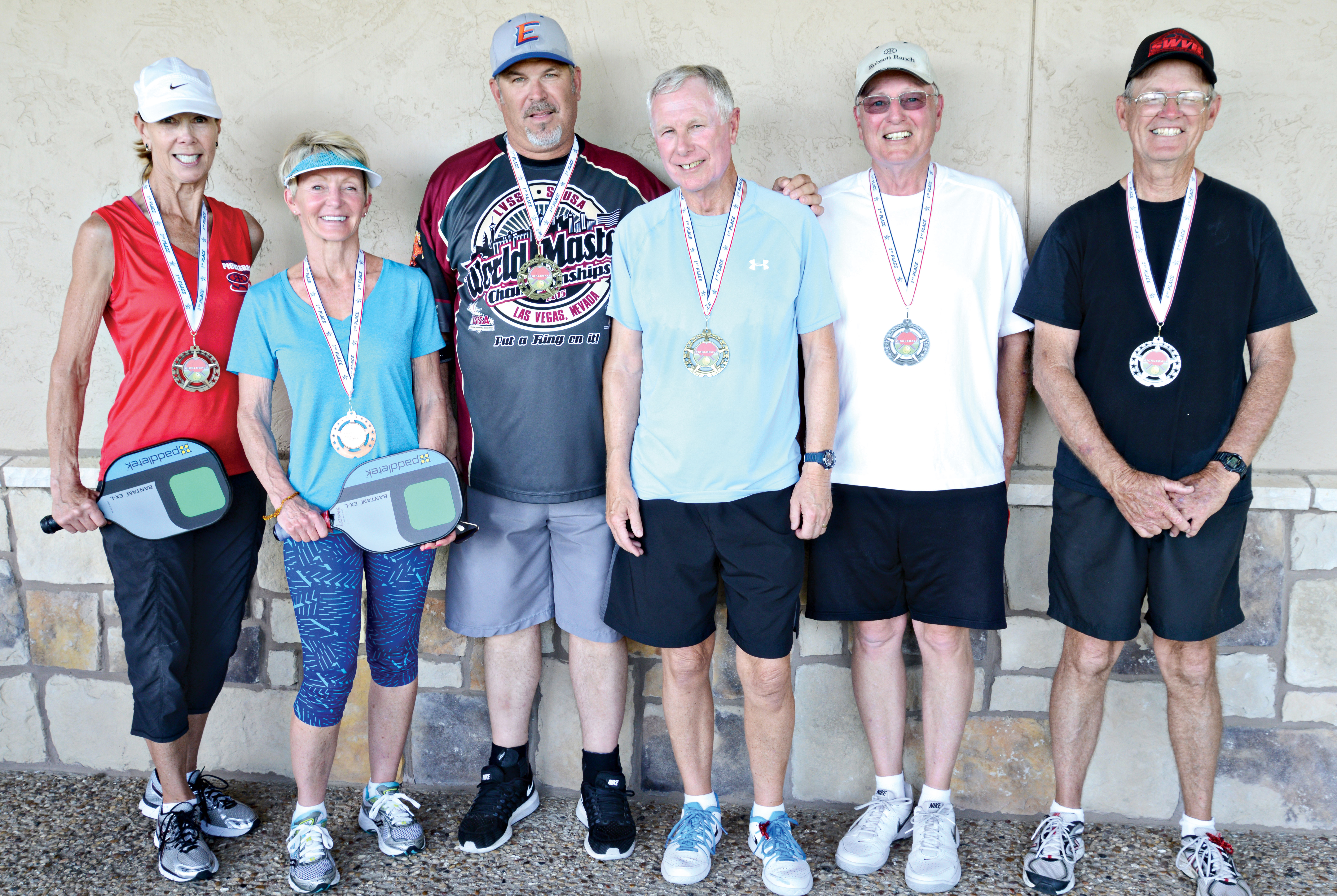 Division B winners, left to right: Janelle Roth, Sandy Welch, Paul Dorwaldt, Peter Waters, Mike Melo and Richard Goodwin