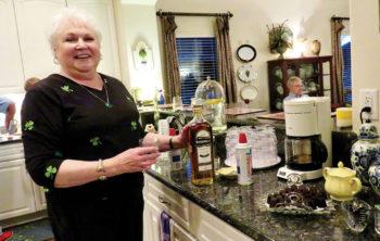 Lynn O'Keefe and her Irish Coffee
