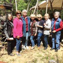 Left to right: Sue Cousin, Robbie Waits, Marnita Torres, Carol Foley, Karen Herzig, Pat Hamblin and Georgia Speers